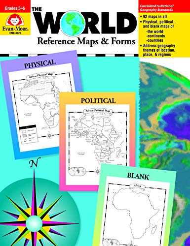 The World Reference & Map Forms (World & Us Maps) from EVAN-MOOR