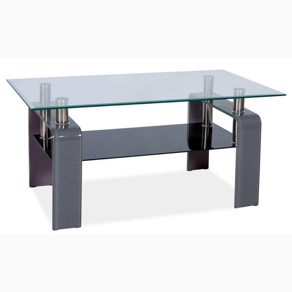 55x60x110 cm Grigio AxLxL JUSThome Stella Tavolino da salotto Tavolo dappoggio Colore