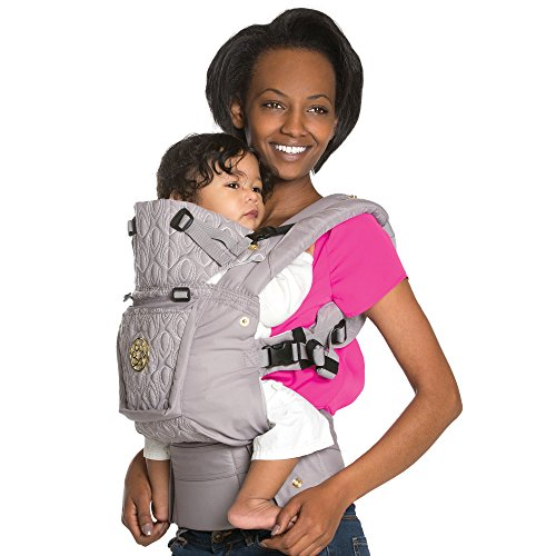 SIX-Position, 360° Ergonomic Baby & Child Carrier by LILLEbaby - The COMPLETE Embossed Luxe (Pewter Grey)