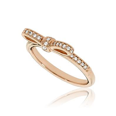 6b14d2838 Amazon.com: Pandora Women's Sparkling Bow Ring, Rose, Size 52 Jewelry  180906CZ-52: Jewelry