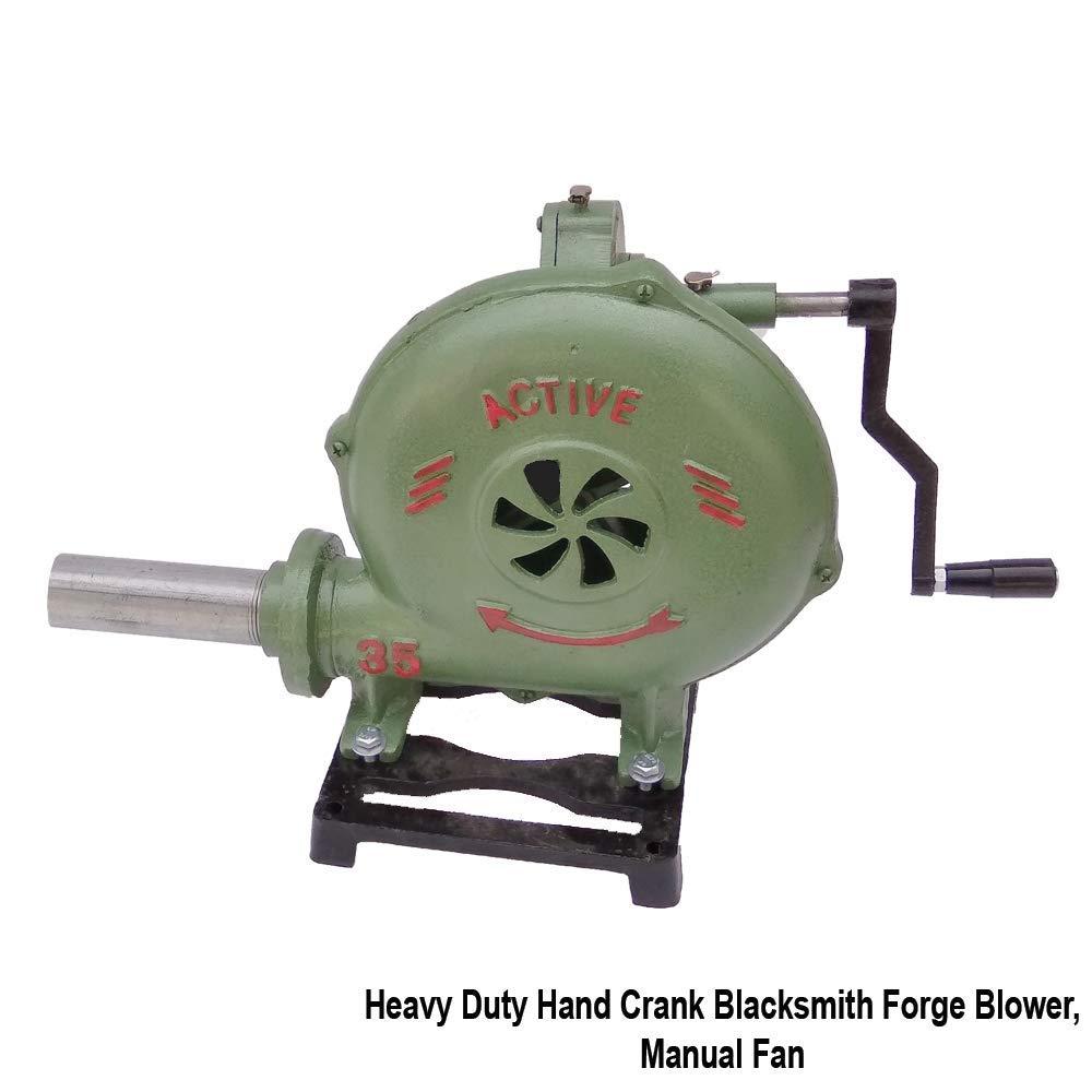 Simond Store Heavy Duty Hand Crank Blacksmith Forge Blower, Manual Fan