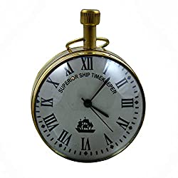 RoyaltyRoute Superior Ship Timekeeper Desk & Shelf Clocks Vintage Style, 2.7 Inches for Office, Home Decor Gift Idea