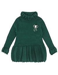 Binmer(TM) Kids Girl Solid Knitted Sweater Winter Warm Sueter Crochet Dress