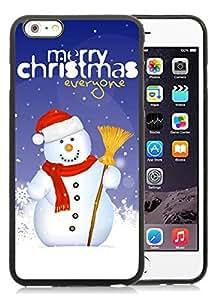 Custom-ized Phone Case iPhone 6 Plus Case,Christmas snowman Black iPhone 6 Plus 5.5 TPU Case 16