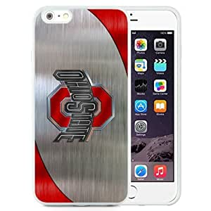 Customized Iphone 6 Plus Case with Ncaa Big Ten Conference Football Ohio State Buckeyes 10 Protective Cell Phone TPU Cover Case for Iphone 6 Plus Generation 5.5 Inch White by icecream design