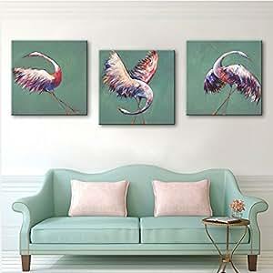 hjkhk grúas decorativo pinturas, sin marco pinturas, restaurante pasillo decorativo pintura 60*60*3