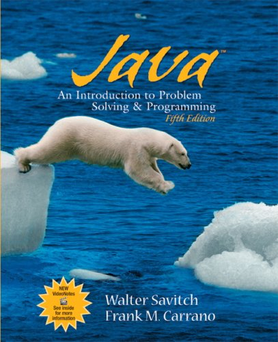 Java: An Introduction to Problem Solving & Programming