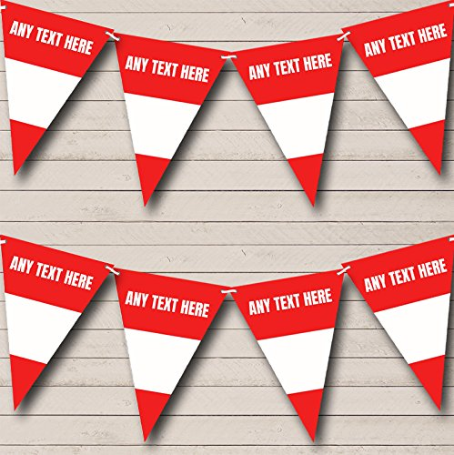 Austrian Flag Austria Personalized Birthday Party Bunting Flags Banner