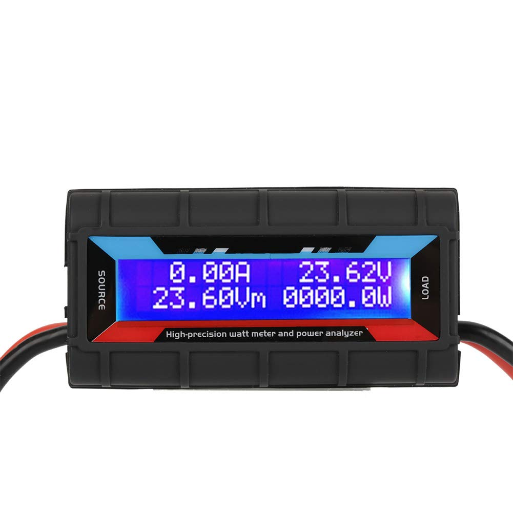 Leistungsmesser,Acogedor 130A 4.8V~60V LCD-Display Wattmeter f/ür RC-Modellflugzeuge Stromst/ärke Leistung-Energie-Messinstrument Testing Messger/ät