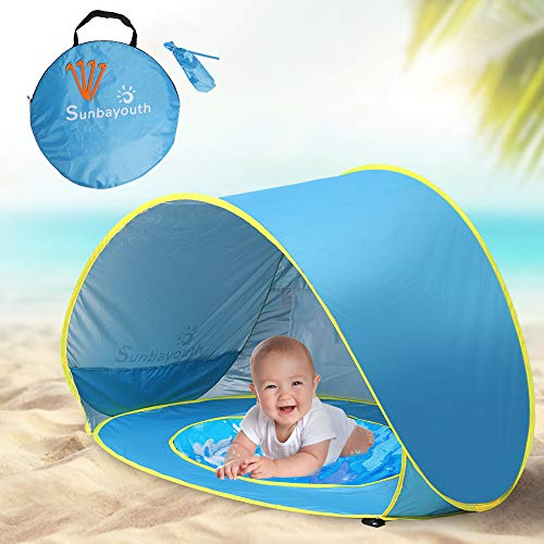 Sunba Youth Pop up Portable Shade Pool UV Protection Sun Shelter for Infant