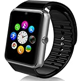 Vallen Sweatproof Smart Watch Phone for iPhone 5s/6/6s/7/7s and 4.2 Android or Above SmartPhones (Silver)