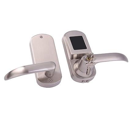 FLAMEER Cerradura para Puerta Digital NFC Control con Llaves, Adecuado para Casa, Oficina,