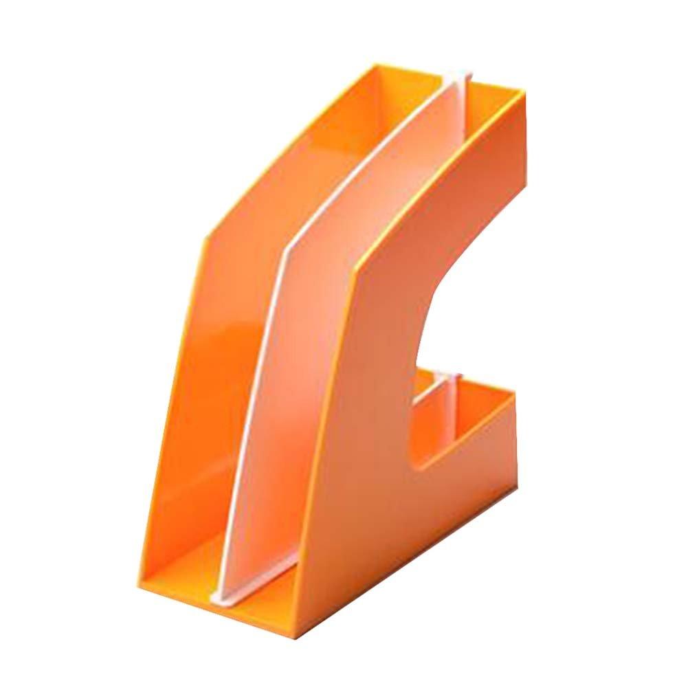 Titular de libro de Titular escritorio libro creativo puesto de libros sujetalibros Basket Archivo, Naranja e7a7d1