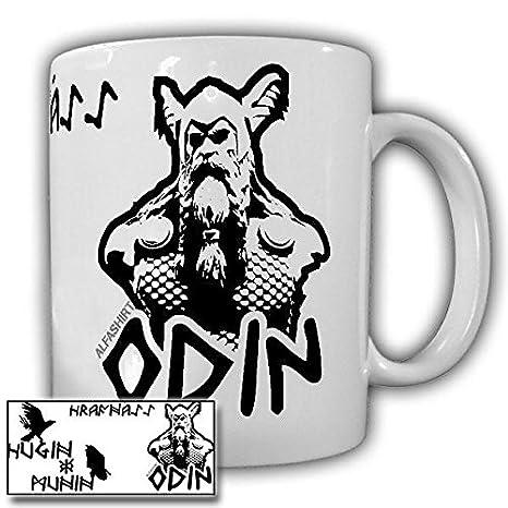 Hrafnáss Rabengott Odin Hugin Munin Wikinger Mythologie Tasse Becher #19951