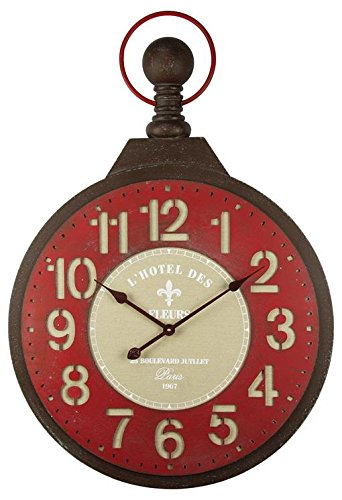 Alices Collection - Grande Reloj de Pared – Vintage - Madera MDF, 68X97X8 cm