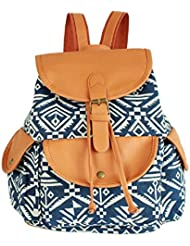 MiCoolker Canvas Vintage Hippie Striped Rucksack School Bag College Backpack/Daypack