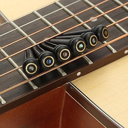 6 pines de ébano de Kenthia para puente de guitarra acústica, re ...