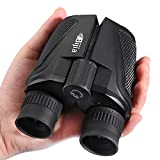 G4Free 12x25 Compact Binoculars(BAK4,Green Lens),Large Eyepiece Super High-Powered Field Surveillance Binoculars