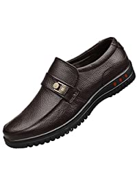 Jiyaru Mens Work Shoes Slip On Casual Loafers Male Business Driver Non Slip Flats