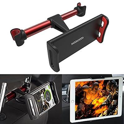 Tablet Car Headrest Mount, iPad Car Mount Holder?Moonooda Universal 360 Degree Rotating Adjustable Backseat Holder for iPad/iPhone/Samsung Galaxy/Tablets 4'' to 10.1''