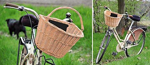iso trade fahrrad weidenkorb geflochten abnehmbar gro 223 klick system rosa ebay