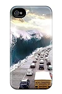 Top Quality Rugged Car Transport Road Art Case Cover For Iphone 4/4s