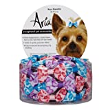 Aria Polyester Kaya Dog Barrettes Canister, 1-1/2-Inch, 48-Pack, My Pet Supplies