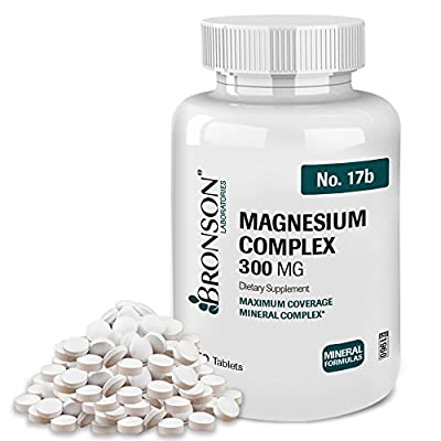 Bronson Magnesium Complex Maximum Coverage 300 Mg, 250 Tablets