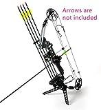 Compound Bow Bow and Arrow Set Archery Set Compound Bow Arrow China Archery Set Hunting Bow (Black)