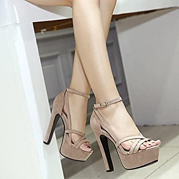 GTVERNH Damen/Women'S/Pumps/Heels Schuhe Schuhe 14 Cm Modell Ein Super - High - Heels Sandalen Schuhe Mit Groben...