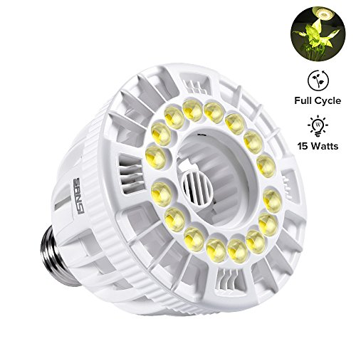 Sunlight Led (SANSI LED Full Cycle Grow Light, 15w Full Spectrum Ceramic LED Light Bulb, Hydroponics, Indoor Farming, Greenhouses)