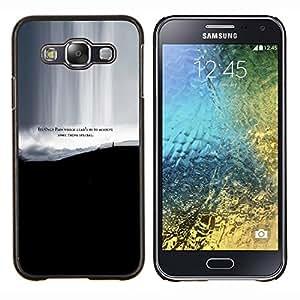 KLONGSHOP // Cubierta de piel con cierre a presión Shell trasero duro de goma Protección Caso - Dolor Lograr algo especial Cita Vida - Samsung Galaxy E5 E500 //
