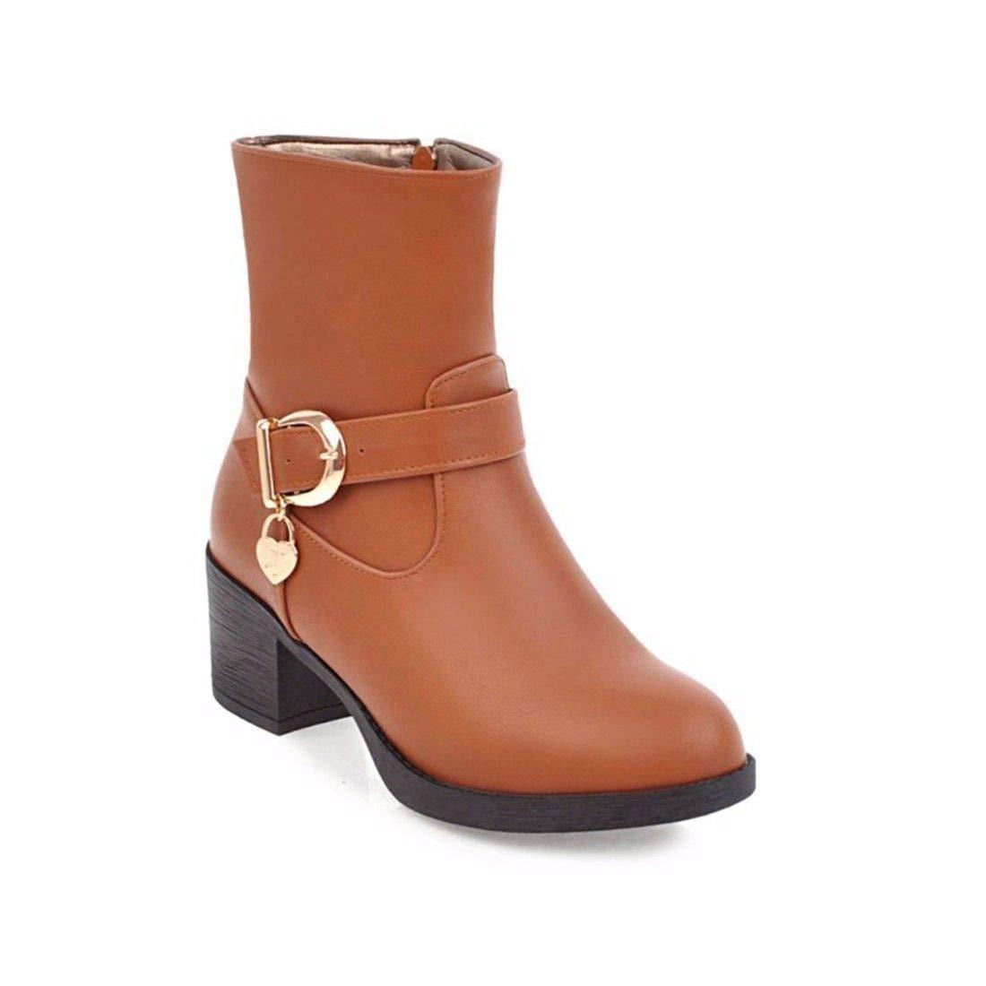 AIKAKA Frauen Herbst Und Winter Europa und Amerika Sexy warme Martin Kurze Stiefel High Heel Schuhe Stiefel