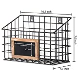 MyGift Set of 3 Wall-Mounted Rustic Wire Storage