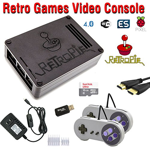 RetroBox - Raspberry Pi 3 Based Retro Game Console, 16GB Edition, Black Matte Case, RetroPie by Crisp Concept Ltd.