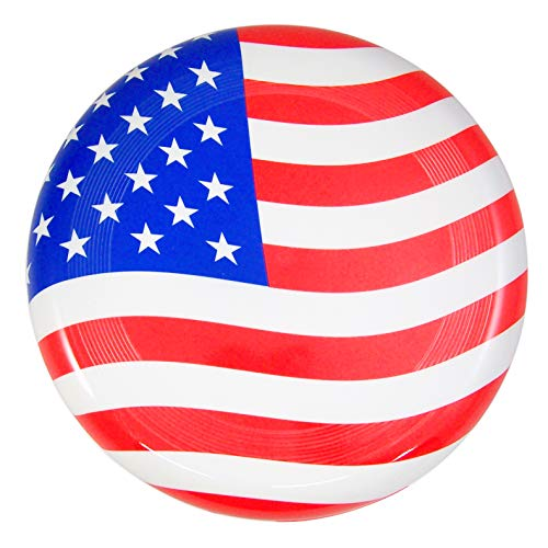 Super Flyer - Get a Gadget American Flag 150g Frisbee - Patriotic Red, White, and Blue Super Flyer Disc, 10 1/2 Inch