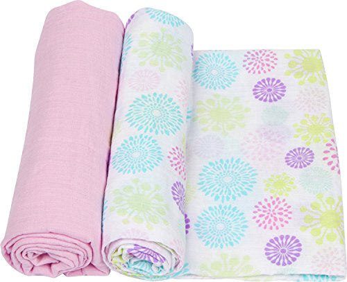 Colorful Bursts 2 Piece Swaddle Blanket Set