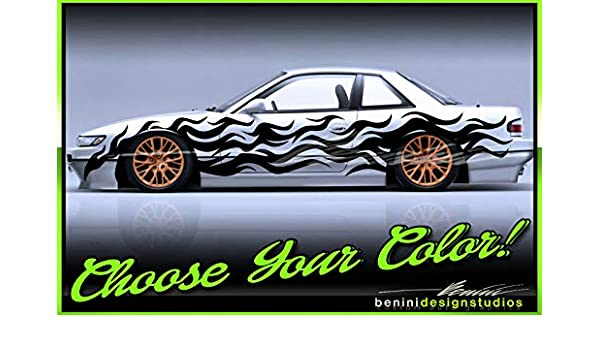 Drift Livery Vinyl Graphics Universal 240SX S12 S13 S14 S15 Silvia FITS ANY CAR3