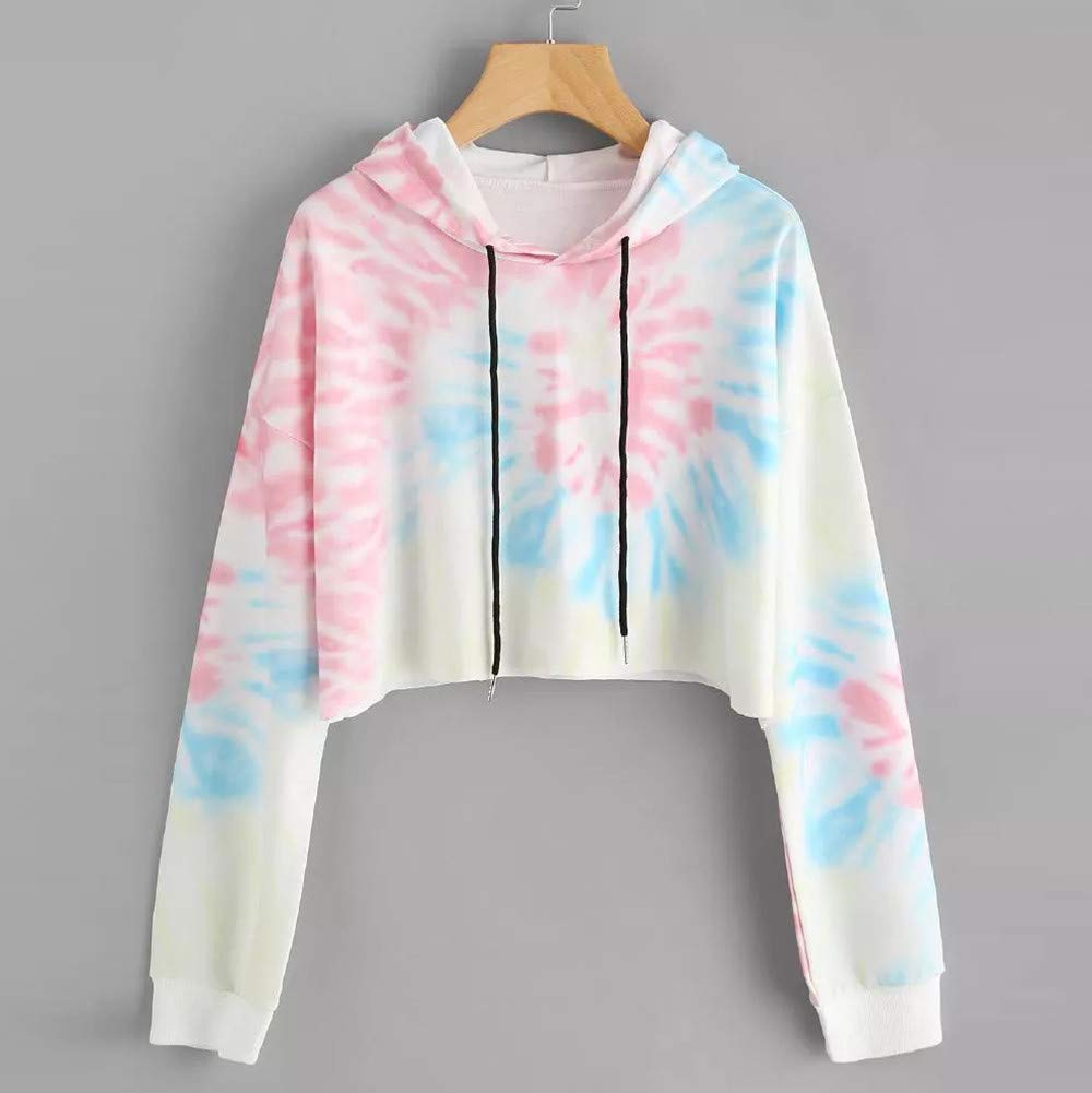 Amazon.com: YOYORI Womens Hoodie Printed Patchwork Sweatshirt Long Sleeve Pullover Tops Blouse: Clothing