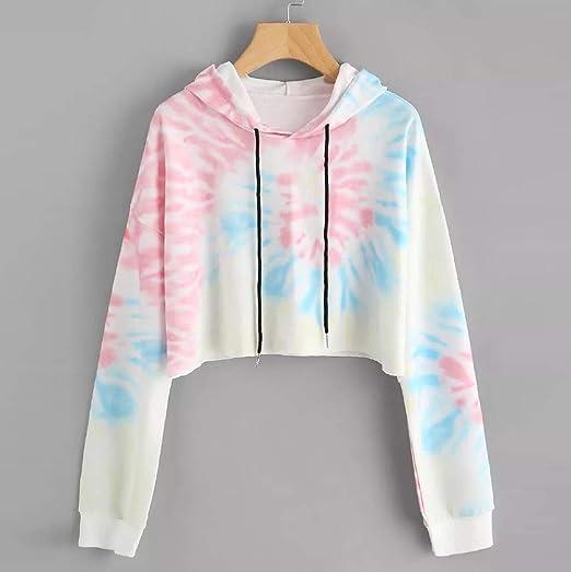 Amazon.com: YOYORI Womens Hoodie Printed Patchwork Sweatshirt Long Sleeve Pullover Tops Blouse: Clothing