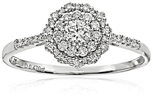 ELLE-Bridal-Diamond-Rhodium-Plated-14k-White-Gold-Round-Double-Halo-Engagement-Ring-12-cttw-I-J-I1-I2-Size-7