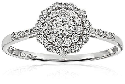 ELLE-Bridal-Diamond-Rhodium-Plated-14k-White-Gold-Round-Double-Halo-Engagement-Ring-12-cttw-I-J-I1-I2-Size-7
