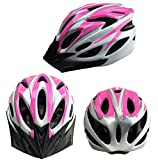 Bormart Cycling Bike Helmet,Lightweight Adult Bike Helmet with Removable Visor Specialized for Men Women Mountain Bicycle Road Safety Protection (pink+white)