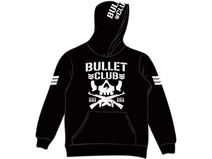 dc69d4ed2cb4b NJPW New Japan Pro Wrestling Bullet Club Pullover Hoodie  Amazon.co.uk   Clothing