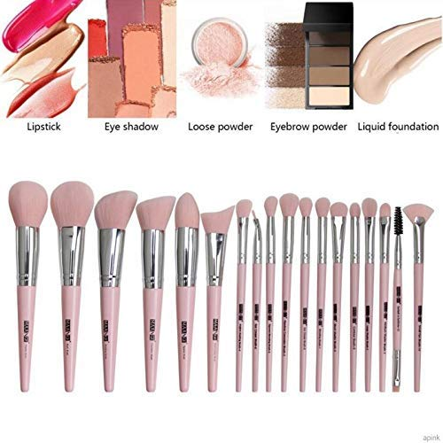 Makeup Brushes 18 Pcs Professional Makeup Brush Set with Brush Bag, Premium Synthetic Foundation Brushes Blending Face Powder Eye Shadows Travel Make up Brushes Tool