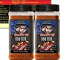 Three Little Pigs Kansas City Championship BBQ Rub Large 12.5 oz (2 Pack) Bundle with Free Bonus Miniature Meat Smoking Guide Magnet