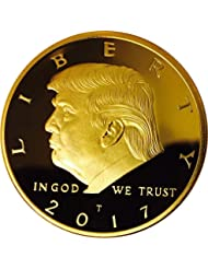 Donald Trump Gold Coin 2017, Gold Plated Collectable Coin, 45th President, Certificate of Authenticity Official GOPBOX