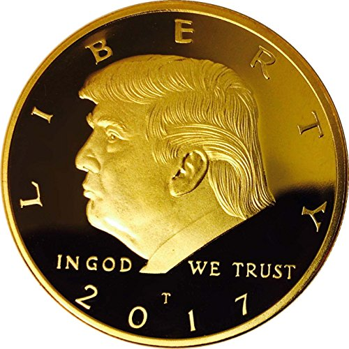 Donald Trump Gold Coin 2017, Gold Plated Collectable Coin, 45th President, Certificate of Authenticity Official GOPBOX Collectibles