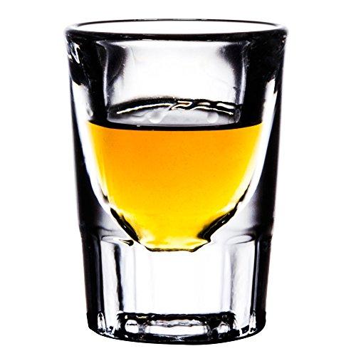 Libbey Fluted Whiskey Glass - Libbey 5135 Fluted Whiskey / Shot Glass 1 1/4 oz, SET of 6 w/Bonus FDL Picks