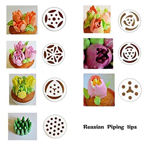 Russian Piping Tips 12 Piece Cake Baking Supplies